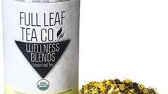 Throat Clarity tea tin from the Full Leaf tea Company