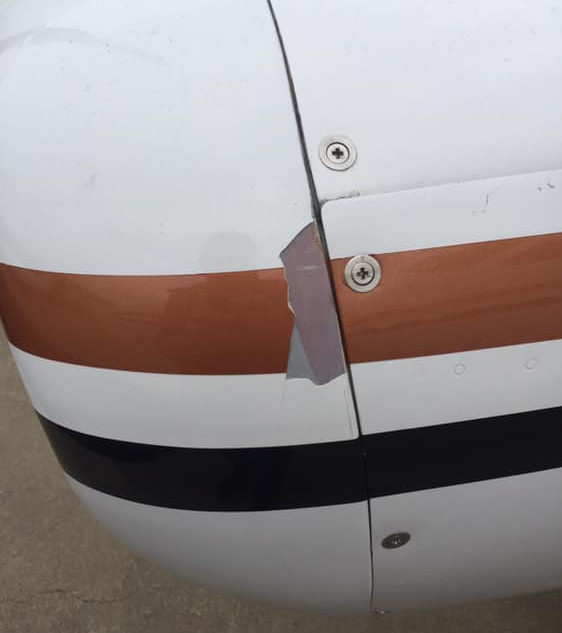 CESSNA 421 AIRCRAFT PAINT REPAIR