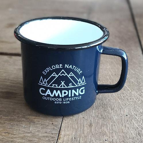 Tasse camping métal émaillé