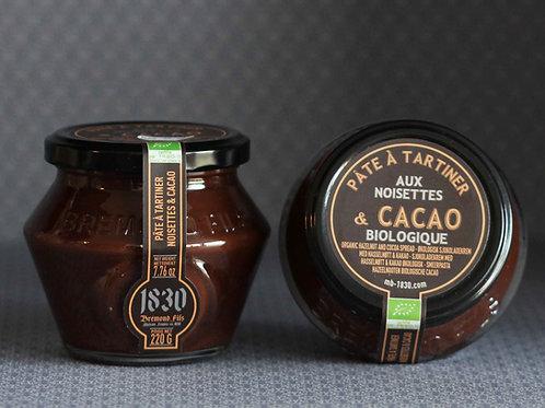 Pâte à tartiner BIO noisettes & cacao noir