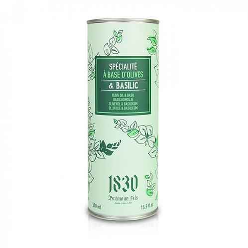 Huile d'olive vierge extra aromatisée au basilic -