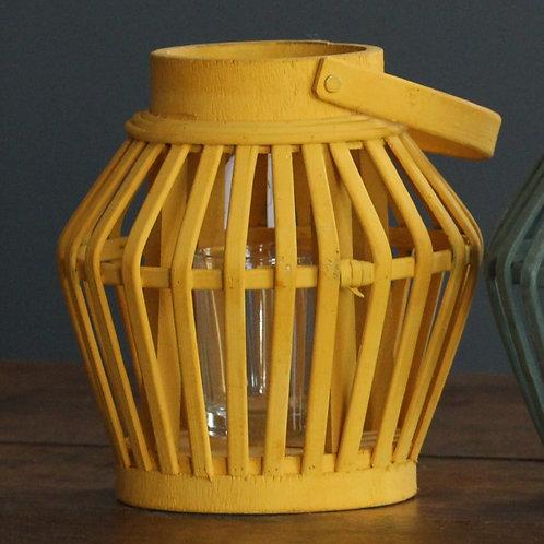Photophore en bois / lanterne couleur