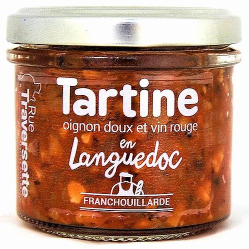Tartine en Languedoc - oignon doux et vin rouge