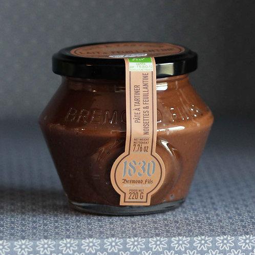 Pâte à tartiner BIO cacao, noisettes, lait et feuillantine