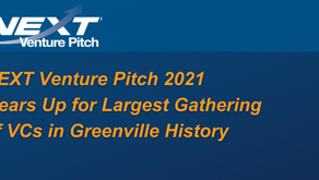 NEXT Venture Pitch 2021 Gears Up for Largest Gathering of VCs in Greenville History