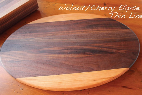 Walnut Cherry Oval Board