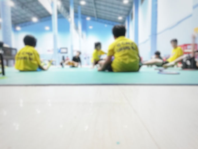 Blur image for kid academy of badminton