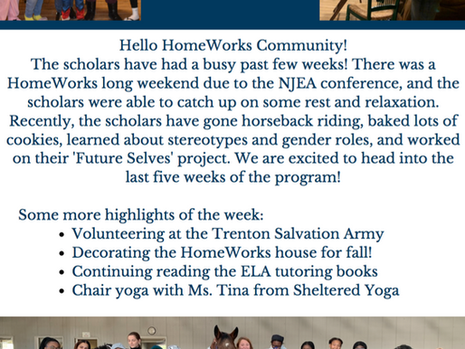 HomeWorks Fall Semester Weeks 7 to 9