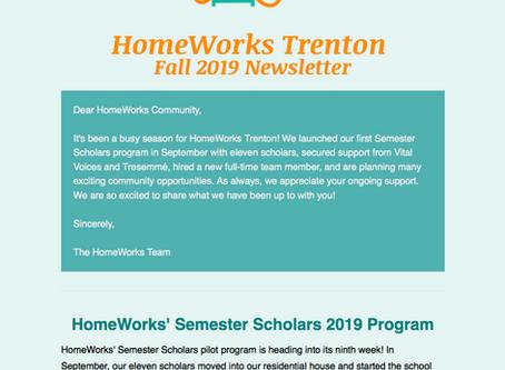 HomeWorks Trenton Fall 2019 Newsletter