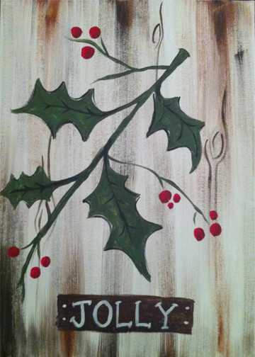 Painted Palette Jolly Holly