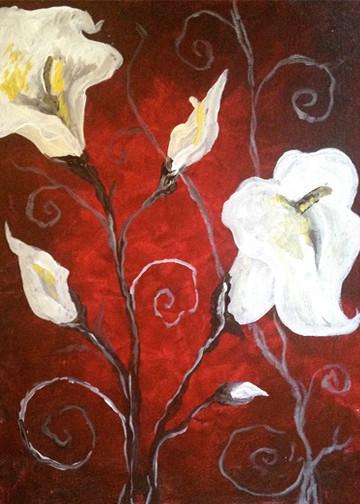 Crimson Calla Lily