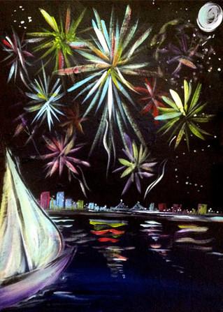 Floating Fireworks