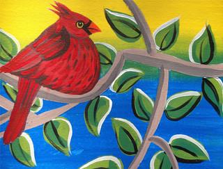 Candy Apple Cardinal Spring