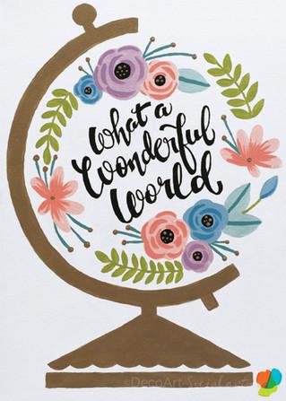 Wonderful World Globe