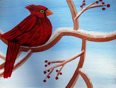 Candy Apple Cardinal Winter