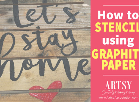 How to Stencil using Graphite Paper!