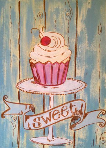 Vintage Cupcake