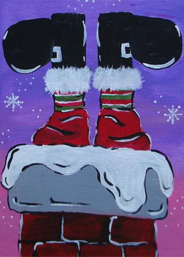 Santa's Feet with Victoria!