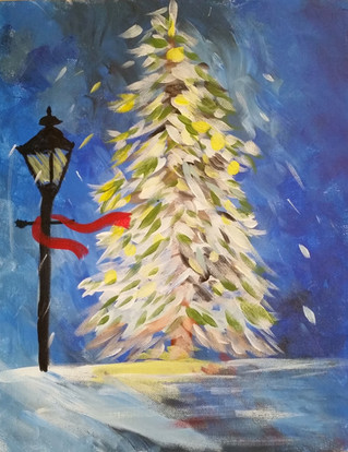 Snowy Streetlamp