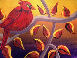 Candy Apple Cardinal Fall