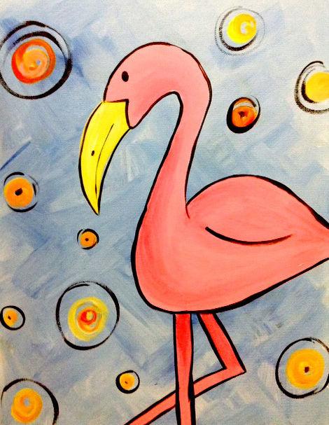 Fiona Flamingo with Victoria!