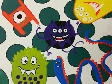 Polka Dot Monsters