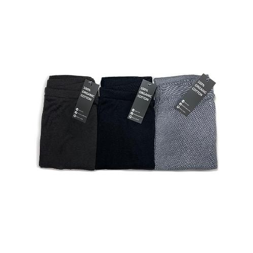 שלישיית מכנסיים בגזרת גטקס -אפור פחם, שחור ופסים דנים