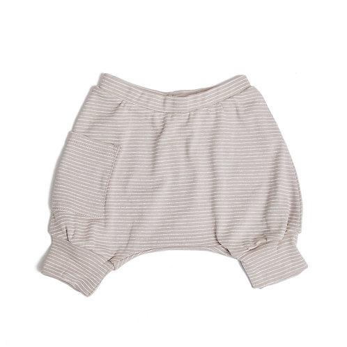 מכנס בלון קצר ילדים מוקה פסים