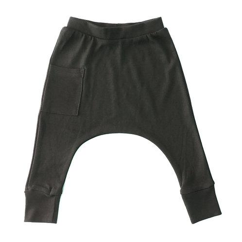 מכנס תינוק בגזרת גטקס אפור פחם