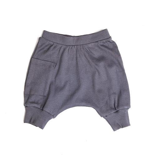 מכנס בלון קצר אפור פלדה