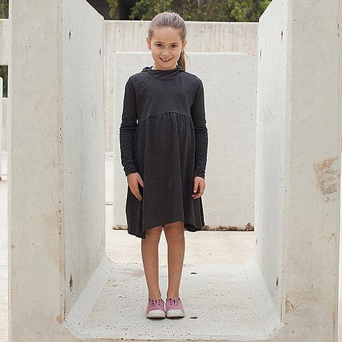 שמלה עם קפוצ'ון פחם