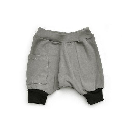 מכנס בלון קצר אפור ופחם