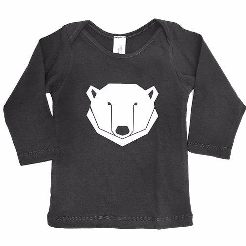חולצה ארוכה - אפור פחם דב קוטב