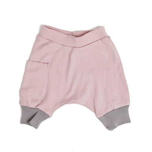מכנס בלון קצר ילדים ורוד ואפור