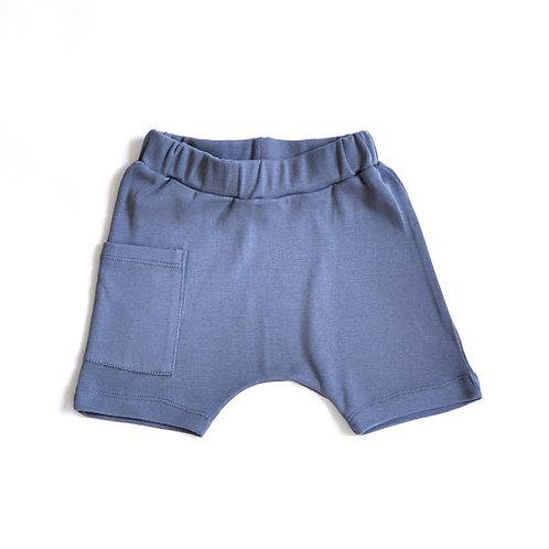 מכנס שק קצר ילדים כחול