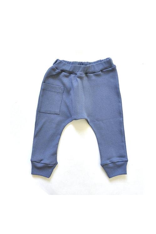מכנס בגזרת גטקס -כחול משופשף