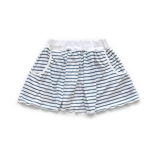 חצאית כיסים פסים בכחול נייבי