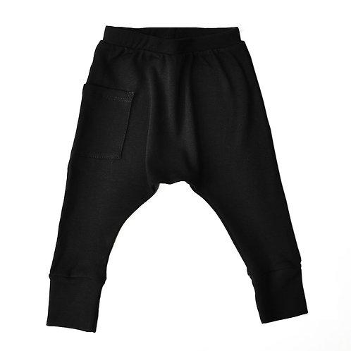 מכנס בגזרת גטקס - שחור