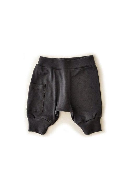 מכנס בלון קצר ילדים אפור פחם