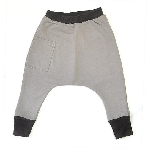 מכנס בגזרת גטקס אפור עם פחם