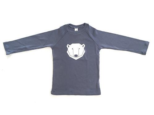 חולצת רגלאן ארוכה - כחול דב קוטב