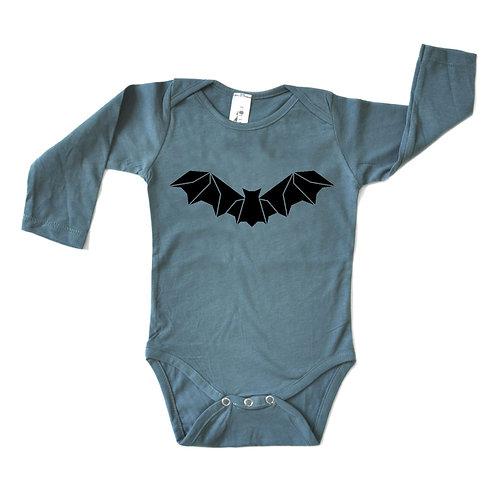 בגד גוף ארוך כחול עטלף