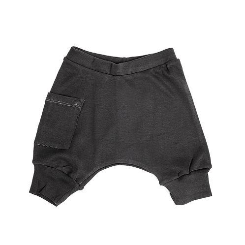 מכנס בלון קצר אפור פחם