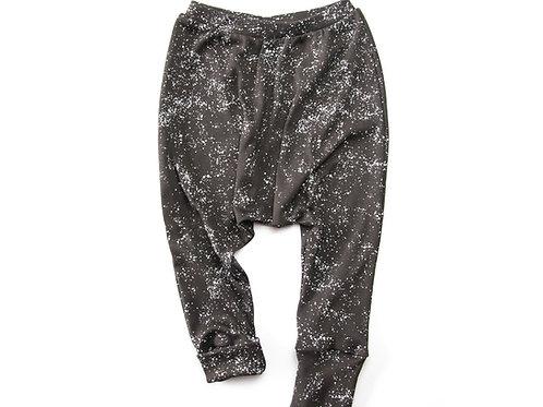 מכנסיים ארוכים כותנה אורגנית שחור גלקסיה