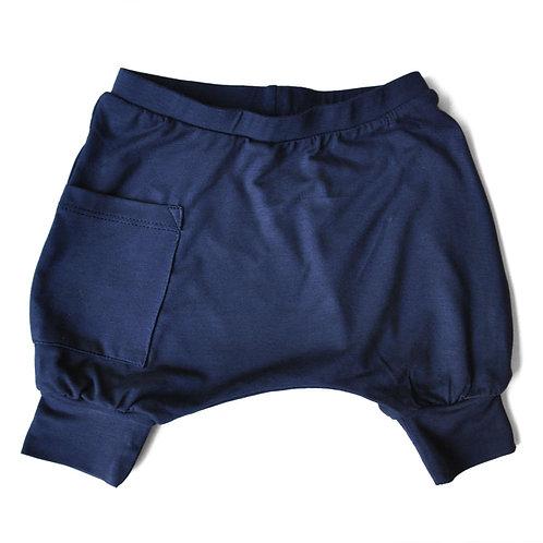 מכנס בלון קצר כחול נייבי