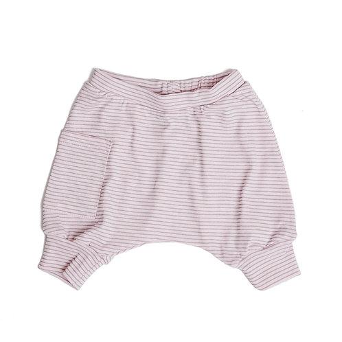 מכנס בלון קצר ילדים ורוד פסים