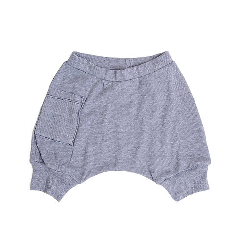 מכנס בלון קצר ילדים פסים ג'ינס