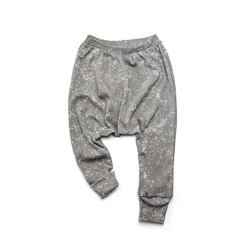 מכנסיים ארוכים כותנה אורגנית אפור גלקסיה תינוקות