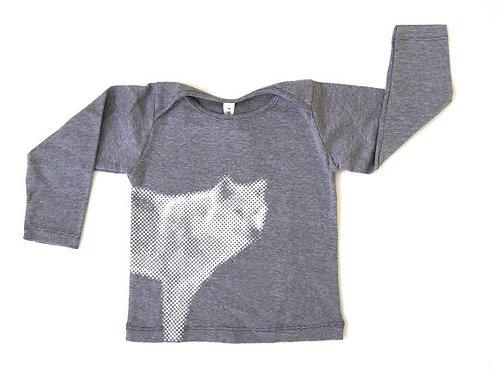 חולצה ארוכה- פסים ג'ינס עם זאב