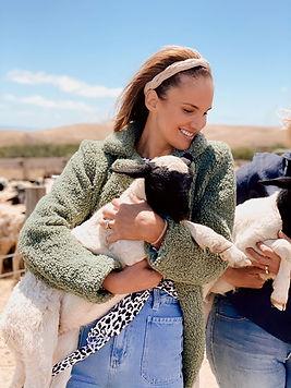 adelady holding lamp dorper sheep adelaide myponga fleurieu south australia farm experience